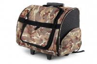 Kombinovaná taška-batoh na psy CAMON s odnímatelnými kolečky a výsuvným madlem. Nosnost 10 kg, lze nosit samostatně, rozměry 43 × 26 × 32 cm. (8)
