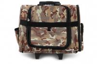 Kombinovaná taška-batoh na psy CAMON s odnímatelnými kolečky a výsuvným madlem. Nosnost 10 kg, lze nosit samostatně, rozměry 43 × 26 × 32 cm. (9)