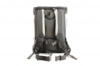 Černošedý batoh na psa s nosností až 12 kg