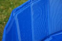 Bazén pro psy z extra odolného materiálu. Rozložení během několika vteřin, neklouzavé dno, odvodňovací ventil. Rozměry 60 × 20 cm. (6)
