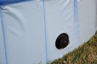 Bazén pro psy z odolného materiálu. Rozložení během několika vteřin, neklouzavé dno, odvodňovací ventil. Rozměry 120 × 30 cm. (11)