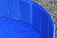 Bazén pro psy z odolného materiálu. Rozložení během několika vteřin, neklouzavé dno, odvodňovací ventil. Rozměry 120 × 30 cm. (14)