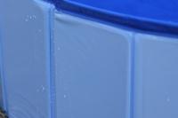 Bazén pro psy z odolného materiálu. Rozložení během několika vteřin, neklouzavé dno, odvodňovací ventil. Rozměry 120 × 30 cm. (15)