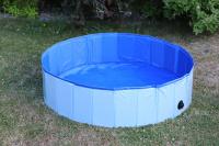 Bazén pro psy z odolného materiálu. Rozložení během několika vteřin, neklouzavé dno, odvodňovací ventil. Rozměry 120 × 30 cm. (9)