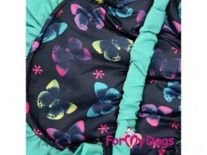 Obleček pro fenky od FMD – teplá zimní bunda z voduodpuzujícího materiálu s hedvábnou podšívkou, detail