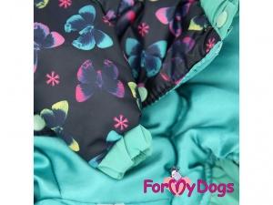 Obleček pro fenky od FMD – teplá zimní bunda z voduodpuzujícího materiálu s hedvábnou podšívkou, detail (2)