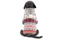 Stylový flísový svetr pro psy se svátečním motivem. Svetr je elastický a snadno se přizpůsobí každému obvodu hrudníku, tři velikosti na výběr. (3)