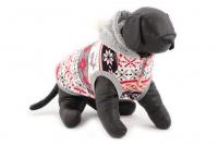 Stylový flísový svetr pro psy se svátečním motivem. Svetr je elastický a snadno se přizpůsobí každému obvodu hrudníku, tři velikosti na výběr. (5)
