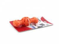 Hračka pro psy do vody od CAMON z pěnové TPR gumy. Strukturovaný povrch vhodný pro aportování, rozměry 14 × 5 × 4 cm, barvy zelená a oranžová. (5)