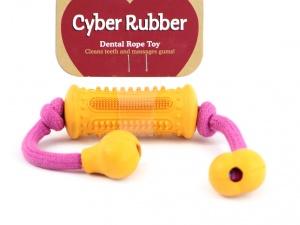 Gumová dentální hračka pro psy, která při žvýkání pročišťuje chrup a zabraňuje vzniku zubního kamene (3)