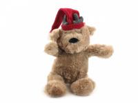 Vánoční pískací hračka pro psy od ROSEWOOD – roztomilý plyšový medvídek s červenou čepičkou. Měkoučký materiál, velikost cca 32 cm. (2)