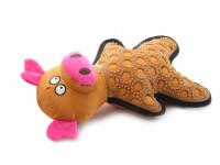 Hračka pro psy – prasátko. Příjemný měkký materiál kombinovaný s tvarovanou gumou, při stisknutí píská, velikost 29 cm. (4)