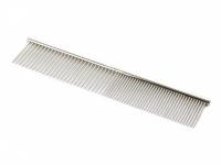 Kvalitní kovový hřeben pro psy vhodný na běžnou úpravu srsti od SHOW TECH. Hřeben má dvě poloviny s rozdílnou hustotou zubů, délka 19 cm. (3)