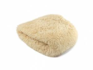Huňatý pelíšek pro psy i kočky, spací vak – béžový
