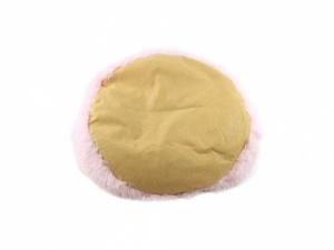 Huňatý pelíšek pro psy i kočky, spací vak – růžový (dno pelíšku)
