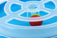 Interaktivní hračka pro kočky – disk s míčkem. Průměr disku 29 cm, výška 5 cm. (2)