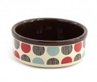 Praktická keramická miska pro psy s barevným potiskem. Výběr velikostí pro všechna plemena psů. (4)
