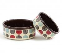 Praktická keramická miska pro psy s barevným potiskem. Výběr velikostí pro všechna plemena psů.