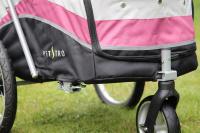PetStro SAFARI – kočárek pro psy do 30 kg, tmavě růžový (10)
