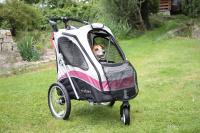 PetStro SAFARI – kočárek pro psy do 30 kg, tmavě růžový (17)