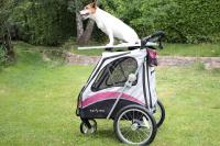 PetStro SAFARI – kočárek pro psy do 30 kg, tmavě růžový (18)