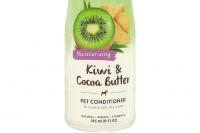 Kondicionér pro psy s kakaovým máslem a výtažkem z kiwi účinně hydratuje a zjemňuje suchou a citlivou pokožku, usnadňuje rozčesávání a předchází zacuchávání srsti (2).