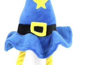 Pískací hračka pro psy od ROSEWOOD – plyšový kouzelnický klobouk (detail)