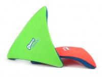 Létající talíř pro psy se speciálním prohnutým tvarem, díky kterému pomalu nabírá výšku (oranžový 6)
