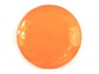 Létající talíř pro psy vyrobený z polotvrdého plastu. Strukturovaný povrch, obruba pro snadný úchop, barva oranžová