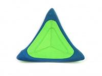 Létající talíř pro psy se speciálním prohnutým tvarem, díky kterému pomalu nabírá výšku (zelený 2)
