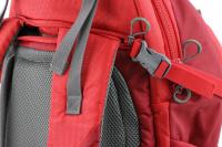 Luxusní a špičkově zpracovaný batoh na psa s nosností až 11 kg. Pevné skořepinové dno, odvětrávaný zádový panel, hrudní a bederní pásy pro ideální rozložení váhy. Barva šedo-červená. (10)