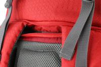 Luxusní a špičkově zpracovaný batoh na psa s nosností až 11 kg. Pevné skořepinové dno, odvětrávaný zádový panel, hrudní a bederní pásy pro ideální rozložení váhy. Barva šedo-červená. (12)