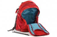 Luxusní a špičkově zpracovaný batoh na psa s nosností až 11 kg. Pevné skořepinové dno, odvětrávaný zádový panel, hrudní a bederní pásy pro ideální rozložení váhy. Barva šedo-červená. (13)