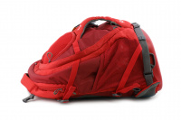 Luxusní a špičkově zpracovaný batoh na psa s nosností až 11 kg. Pevné skořepinové dno, odvětrávaný zádový panel, hrudní a bederní pásy pro ideální rozložení váhy. Barva šedo-červená. (18)