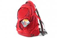 Luxusní a špičkově zpracovaný batoh na psa s nosností až 11 kg. Pevné skořepinové dno, odvětrávaný zádový panel, hrudní a bederní pásy pro ideální rozložení váhy. Barva šedo-červená. (2)