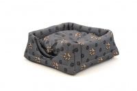 Multifunkční pelíšek pro psy sloužící jako uzavřená bouda nebo pelíšek s okrajem. Barva šedá. (2)