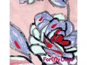 Oblečky pro psy – teplá mikina z měkoučké pleteninové látky FLOWERS (detail)