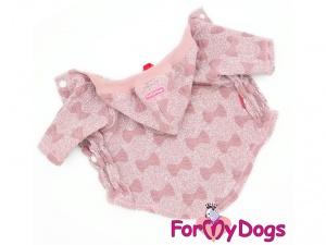 Oblečky pro psy i fenky – růžová mikina z měkké pleteniny PINK BOW