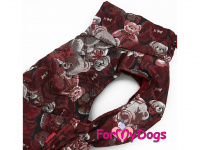 Obleček pro psy i fenky jezevčíků od FMD – zimní bunda CAPARISON BROWN z voduodpuzujícího materiálu. Bunda je zateplená sinteponem a má hedvábnou podšívku. Zapínání na suchý zip. (4)