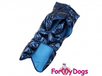 Obleček pro psy i fenky malých až středních plemen – stylová pláštěnka BLUE od ForMyDogs. Zapínání na sponu, hladká podšívka. Barva modrá. (10)