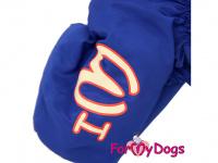 Obleček pro fenky – sinteponem zateplený zimní overal BLUE FOLK od ForMyDogs. Vylepšené zapínání na zádech, odnímatelná kapuce, hedvábná podšívka. (4)