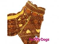 Obleček pro psy – lehoučký overal ForMyDogs BROWN FLEECE z vysoce kvalitního flísu. Zvýšený límec, zapínání na zip na zádech, vhodný i pro domácí nošení. (3)