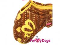Obleček pro psy – lehoučký overal ForMyDogs BROWN FLEECE z vysoce kvalitního flísu. Zvýšený límec, zapínání na zip na zádech, vhodný i pro domácí nošení. (2)