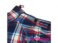 Obleček pro psy – sinteponem zateplený zimní overal CAGE BLUE od ForMyDogs. Kožešinová podšívka, vylepšené zapínání na zádech. (3)