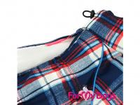 Obleček pro psy – sinteponem zateplený zimní overal CAGE BLUE od ForMyDogs. Kožešinová podšívka, vylepšené zapínání na zádech. (5)