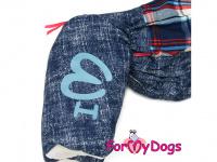 Obleček pro psy – sinteponem zateplený zimní overal CAGE BLUE od ForMyDogs. Kožešinová podšívka, vylepšené zapínání na zádech. (6)