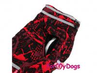 Obleček pro psy i fenky jezevčíků od FMD – zimní bunda CAPARISON RED z voduodpuzujícího materiálu. Bunda je zateplená sinteponem a má kožešinovou podšívku. (2)