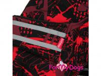 Obleček pro psy i fenky jezevčíků od FMD – zimní bunda CAPARISON RED z voduodpuzujícího materiálu. Bunda je zateplená sinteponem a má kožešinovou podšívku. (4)