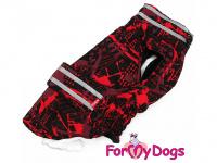 Obleček pro psy i fenky jezevčíků od FMD – zimní bunda CAPARISON RED z voduodpuzujícího materiálu. Bunda je zateplená sinteponem a má kožešinovou podšívku.