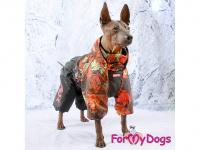 Obleček pro psy – zateplený zimní overal COLOURFUL LEAVES od ForMyDogs. Vylepšené zapínání na zádech, odnímatelná kapuce, flísová podšívka. (9)